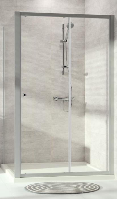 Hüppe Alpha 2 Posuvné dveře 1-dílné s pevným segmentem pro niku nebo boční stěnu