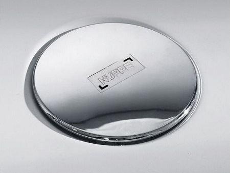 Hüppe EasyStep Plochý sifon s chromovou krytkou a se stavební výškou 53mm a s průtokem až 0,5l/s. Výška zápachové uzávěry 40mm