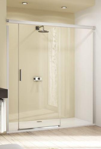 Hüppe Design elegance 4-úhelník posuvné dveře s pevným segmentem a protisegmentem upevnění vpravo do niky