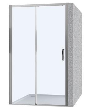 Hüppe Trend Easy 4-úhelník posuvné dveře 1-dílné s pevným segmentem upevnění vlevo