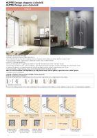 Hüppe Design elegance 4-úhelník křídlové dveře s pevným segmentem
