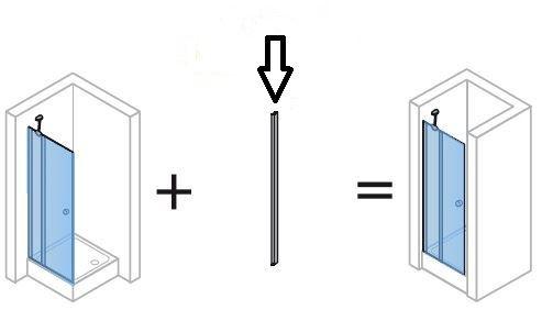 Hüppe Design pure doplňový set pro niku atyp