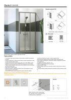 Hüppe Classics 2 4-úhelník posuvné dveře 2-dílné s pevným segmentem