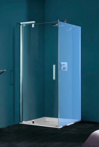 Hüppe Refresh pure 4-úhelník pivotové dveře pro boční stěnu