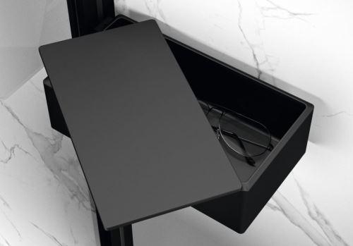 Hüppe Select+ Drybox - odkládací box s víkem, Black Edition