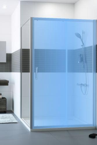 Hüppe Classics 2 4-úhelník boční stěna pro posuvné dveře (v rovině)